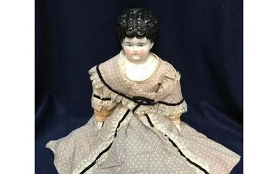 Original German Antique Hertwig Mabel China Head Doll