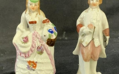 Pair French Style Ceramic Figurines