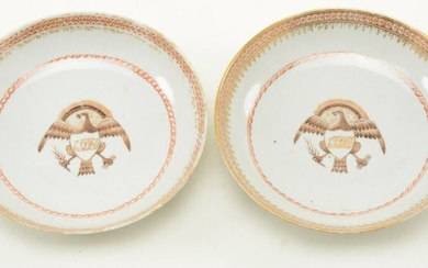 Pair of Chinese Export porcelain small dishes with
