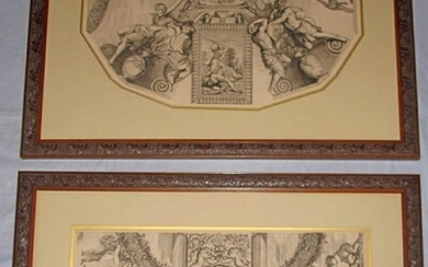 Pair of Neoclassic etchings after Old Master c. late 19thc FR3SH