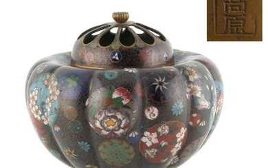 Property of a lady - a Japanese cloisonne koro,...