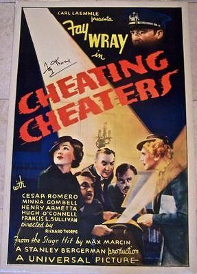 REDUCED CHEATING CHEATERS '34 1 SH LB JEWEL THIEF OR