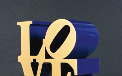 ROBERT INDIANA   LOVE (GOLD FACES - BLUE SIDES)