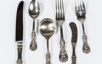 """Reed & Barton """"Francis I"""" Pattern Sterling Silver Flatware Service"""