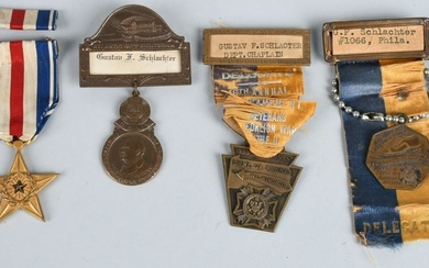 SPAN-AM NAMED JEWISH SILVER STAR MEDAL GROUPING
