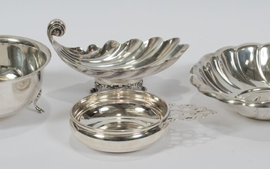 "STERLING SILVER BOWLS & DISHES, 4 PCS, H 1.5""-3"", T.W. 28.64 TOZ"