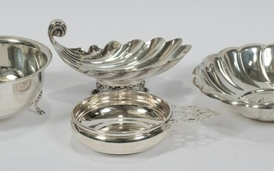"STERLING SILVER BOWLS & DISHES, 4 PCS, H 1.5""-3"""