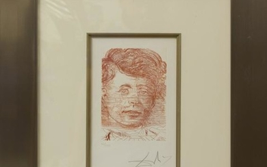 Salvador Dali John Kennedy Famous Men Etching