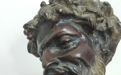Sculpture, Drunk satyr (1) - Bronze (patinated) - Second half 20th century