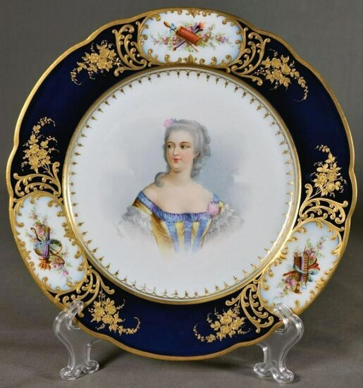 Sevres-Style And Royal Vienna-Style Porcelain Plate