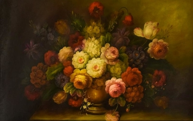Signed Old Master Style Floral Still Life Painting