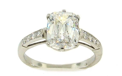 Stunning 2.38-ct CUSHION CUT DIAMOND (D, VVS2 GIA)