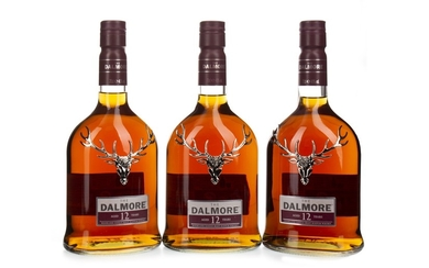 THREE BOTTLES OF DALMORE 12 YEARS OLD