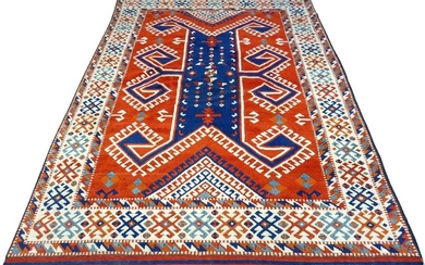 "TURKISH WOOL CARPET, H 8' 6"", W 5' 10"""