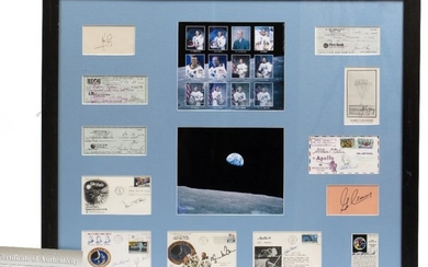 TWELVE SIGNATURES OF MEN WHO WALKED ON THE MOON...