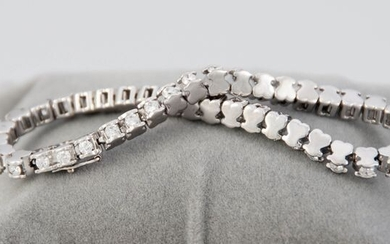Tous - 18 kt. White gold - Riviere bracelet - 2.02 ct Diamond