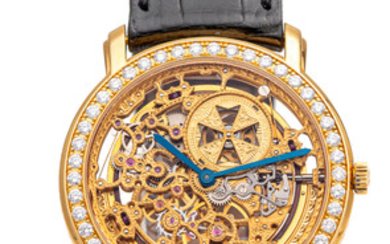 VACHERON CONSTANTIN, REF. 43580, SKELETON AND DIAMONDS, AUTOMATIC, YELLOW GOLD