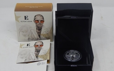 Very Rare Elton John 2 Ounce Silver Proof Coin in Royal Mint...