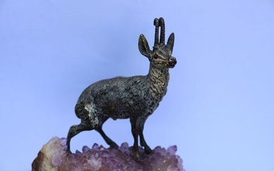 Vienna Foundry - Chamois figurine - Bronze (cold painted) - Late 19th century