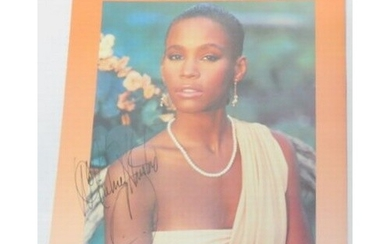 Whitney Houston signed All At Once Sheet Music