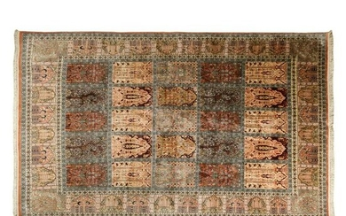 "Woven Silk Large Vintage 86x120"" Persian Style Rug"