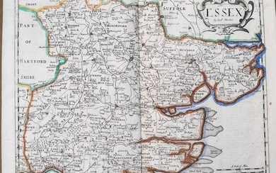 1722 Morden Map of Essex UK -- Essex
