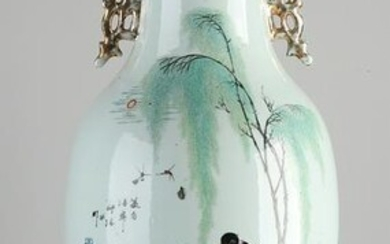 19th Century Chinese porcelain Family Rose vase with