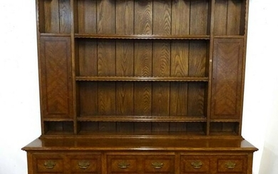 "20TH C. OAK WELSH DRESSER 86""H 72""L 18""D"