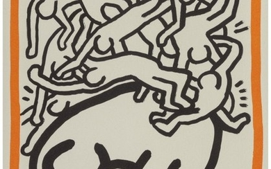 65034: Keith Haring (1958-1990) Untitled, 1990 Lithogra