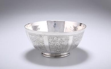 A CHINESE SILVER BOWL, probably 18th Century, circular