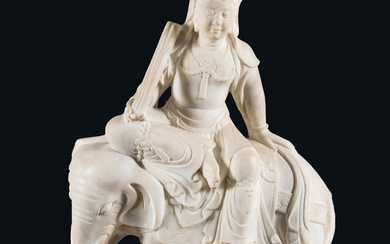 A Chinese Carved Marble Figure
