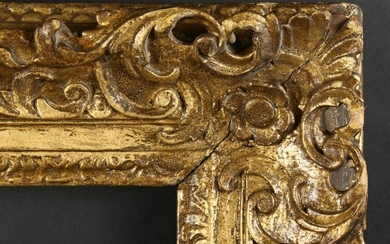"A Fine Quality English 18th Century Carved Frame, 25"" x"