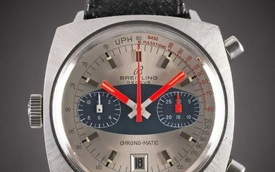 A GENTLEMAN'S STAINLESS STEEL BREITLING CHRONO-MATIC