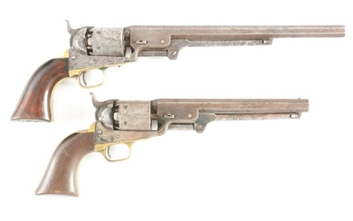 (A) LOT OF TWO COLT 3RD MODEL 1851 NAVY REVOLVERS: 1852