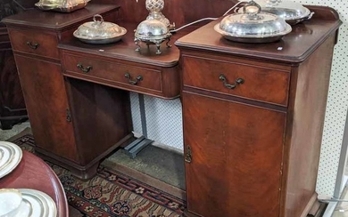 A PERIOD STYLE MAHOGANY SIDEBOARD