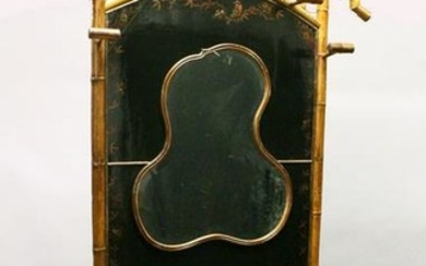 A VERY GOOD 19TH CENTURY BAMBOO AND LACQUER HALL STAND