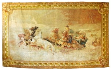 A VERY GOOD, LARGE, AUBUSSON TAPESTRY WALL HANGING, the