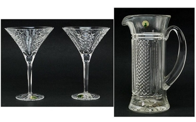 A Waterford Society Crystal Martini Pitcher in the