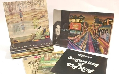 A collection of twelve Hollies LPs, including Reflection SRS...
