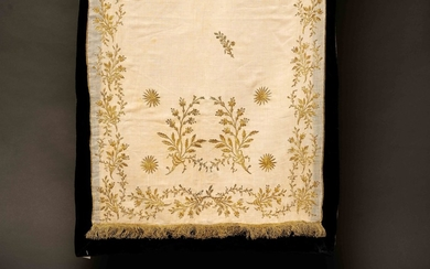 A long silk and gilded silver wire tapestry- Ottoman Turkey 1880-1900