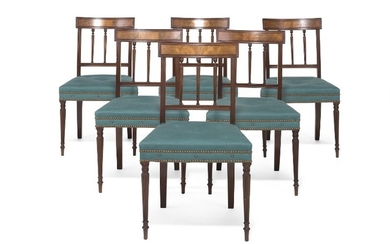A set of fourteen Regency mahogany dining chairs. England, first half of the 19th century. (14)