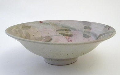 A studio pottery bowl with Oriental inspired decoration