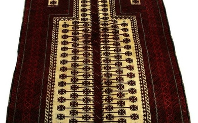 AFGHANISTAN BELOUCH HAND WOVEN WOOL PRAYER RUG