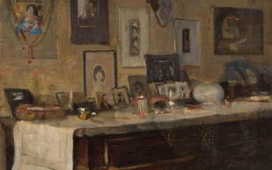 ALSON SKINNER CLARK My Chest of Drawers with a Painting by F