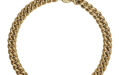 AN ITALIAN GOLD NECKLACE BY UNOAERRE