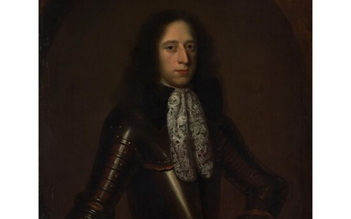 ATTRIBUTED TO WILLEM WISSING (DUTCH 1657 - 1687) PORTRAIT OF A NOBLEMAN IN ARMOUR