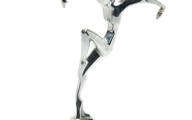 American Art Deco Ronson AMW Chrome Metal Figure of a