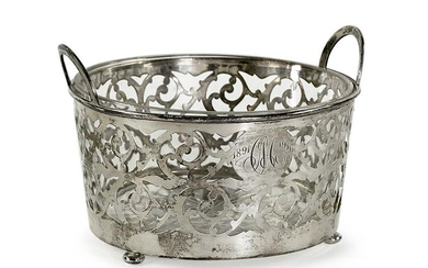 An American Filigree Sterling Silver Basket.