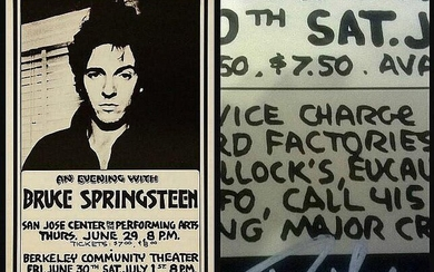 An original concert poster for Bruce Springsteen's performances produced...
