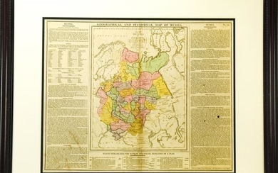 Antique 1813 Map of Russia Lavoisnes by C Gros
